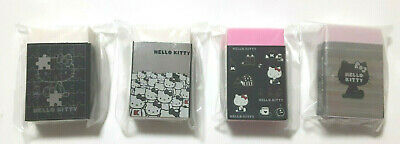 Hello Kitty Eraser 4 pieces SANRIO Cool Cute Rare Girls Stationery