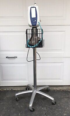 WELCH ALLYN SPOT VITAL SIGNS 420 MONITOR WITH Stand NIBP TEMP SpO2 Patient Ready
