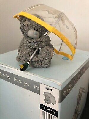 Raindrops - Rare Boxed Me To You Tatty Teddy Bear Under Brolly Figurine Ornament