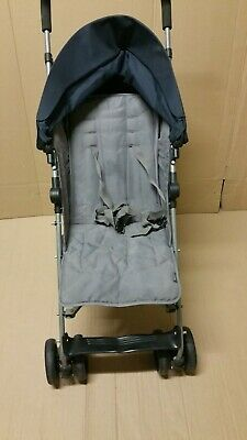 Used Mamas & Papas Blue and Grey Single Seat Stroller-GT111.