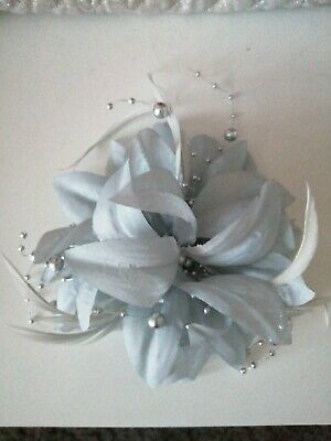 Fascinator Flower & Feather Brooch Clip Wedding Races Occasion Prom Ascot Lot,