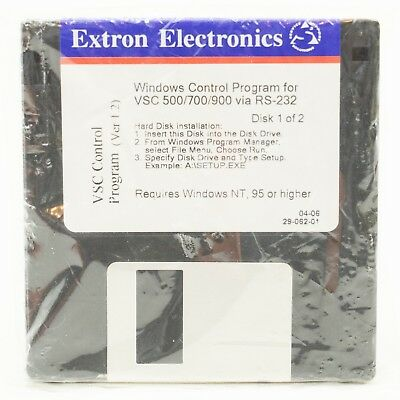 Extron Windows Control Program for VCS 500 700 900 via RS Floppy Discs