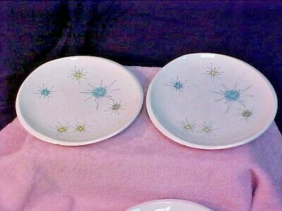 (2) Franciscan Starburst Mid-Century Retro Atomic Bread/Butter/Treat Plates