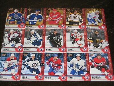 2020 UD NHCD National Hockey Card Day Complete set of 17 cards w/ RYAN POEHLING
