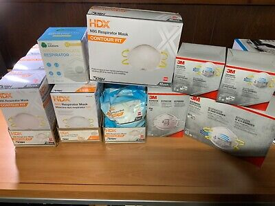 3M N95 respirator face mask HDX, Eco Solutions, 5, 6, 8,10,15, 20, 40 packs