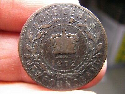 Canada Newfoundland large 1 Cent 1872 coin Victoria
