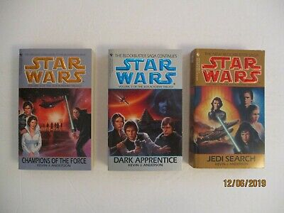 Star Wars:  The Jedi Academy Trilogy By Kevin Anderson (3 Books) 1994