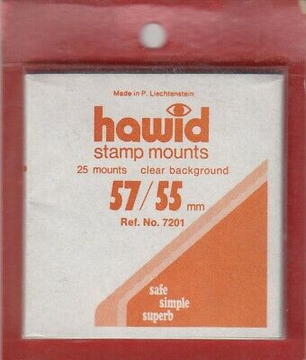 Hawid Stamp Mounts: 57x55 - Clear