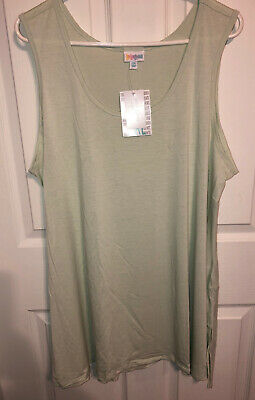 LuLaRoe Perfect Tank Size 2XL, solid light green NWT