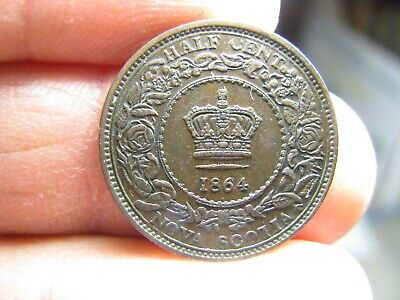 Canada Nova Scotia large 1/2 Cent 1864 coin Victoria