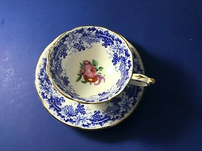 Paragon Double Warrant Cabbage Rose Cup And Saucer