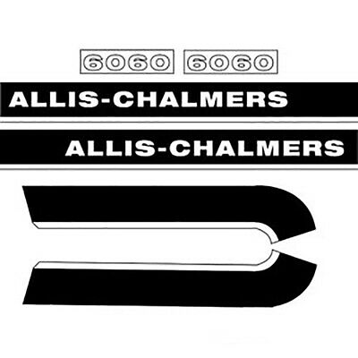 AC6060 Hood Decal Replacement For Allis Chalmers Tractor Model 6060