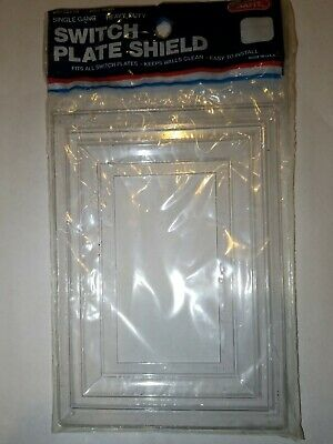 Snapit Leviton Heavy Duty Clear Plastic Switch Plate Shield Single Gang USA wall