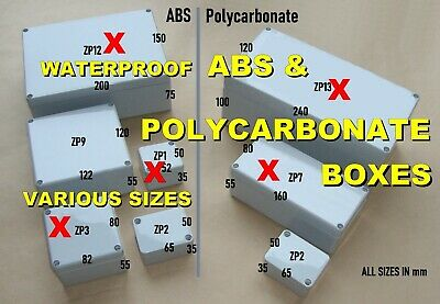 ABS or Polycarbonate Plastic Electronics Project Box IP65 (Waterproof) ABTECH
