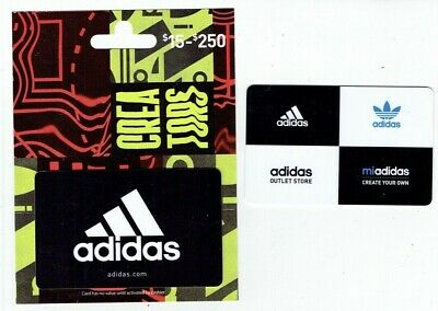 ADIDAS Gift Cards - Collectible  - LOT of 2 Different - No Value