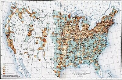 1900 United States Map Population Cities Towns Texas Montana Colorado Florida