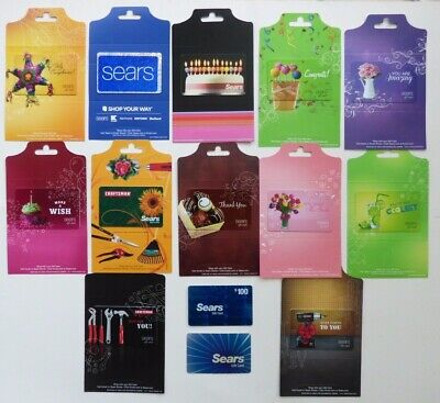 SEARS Gift Cards Collectible - LOT of 14 Diff Cards / Craftsman Tools - No Value