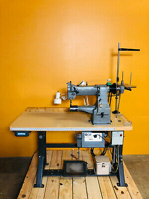 Singer / Consew 227R with Synchro Q31 Plus Industrial Sewing Machine. Tested!