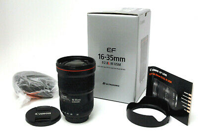 Canon Zoom Lens 16-35mm 1:2.8 L III USM Used Excellent Condition w/ Hood,Caps,