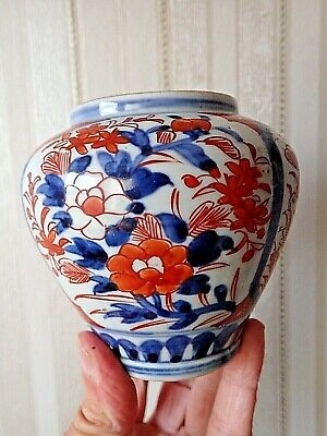 Antique IMARI Porcelain JAR JAPANESE 19C