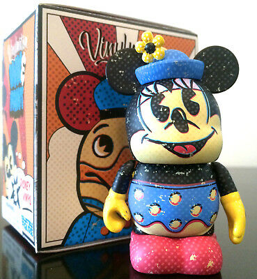 "Disney Vinylmation 3"" Ink & Paint Series Minnie Mouse Chaser 2D Animation Figure"