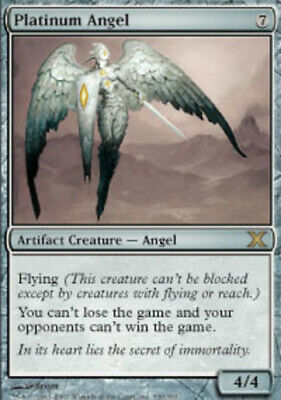 1 x MTG Platinum Angel 10th Edition - Light Play, English