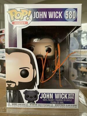 KEANU REEVES Signed Funko Pop! Movies John Wick with Dog #580