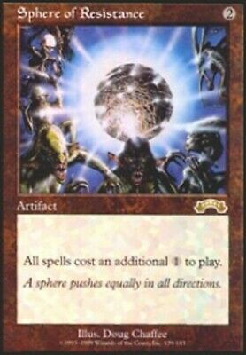 1 x MTG Sphere of Resistance Exodus - Heavy Play, English