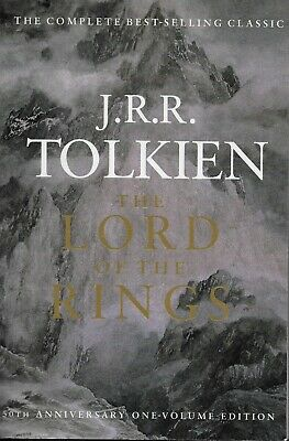THE LORD OF THE RINGS TRILOGY  large paperback book  50th ANNIVERSARY EDITION!