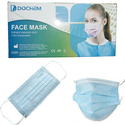 Disposable Face Mask Surgical Medical Dental Industrial Quality Flu Virus 3-Ply