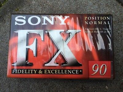 Sony FX Audio Tape x 3, Brand New Manufacturer Sealed