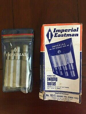 Vintage Imperial Eastman 4 Pc. Swaging Tool Set USA