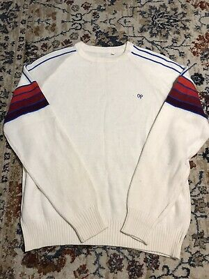 Vintage 80's OP Ocean Pacific Rainbow Stripe Colorblock Sweater L Surf Skate