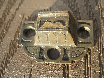 Antique 1800 S Ornate Eastlake Cabinet Cupboard Latch  KEEPER BRASS PLATED Vtg