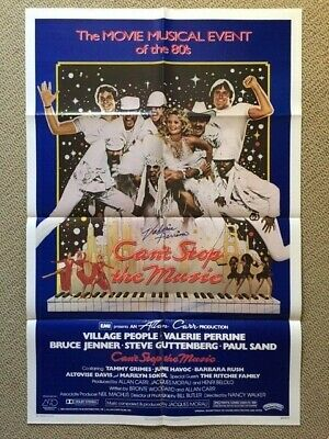 Signed Valerie Perrine - Can't Stop The Music Poster - W/ Photo Of Her Signing!