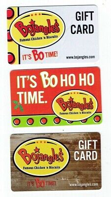 BOJANGLES' Collectible Gift Cards - Christmas Chicken 'n Biscuits - LOT of 3
