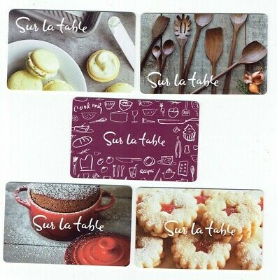 SUR LA TABLE Collectible Gift Card - LOT of 5 Diff Food Kitchen Cards - No Value