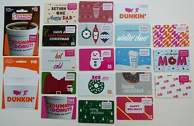 DUNKIN DONUTS Collectible Gift Cards / DD - LOT of 20 Diff Styles - No Value