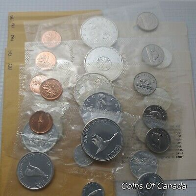 Lot Of 5 Canada Silver Prooflike Sets 1963 1964 1965 1966 1967 #coinsofcanada