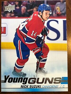 19-20 UD Series 2 Hockey Young Guns 471 Nick Suzuki