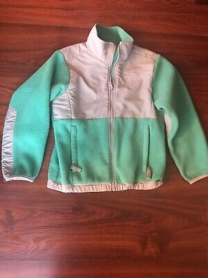 Girls/ Filles Jacket The North Face Size S/P Green And Grey