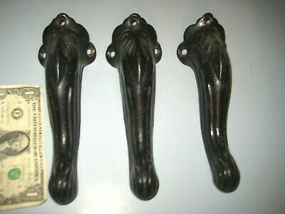 Antique Vintage Table Organ Stool Legs Feet Cast Iron Victorian Lot Of 3