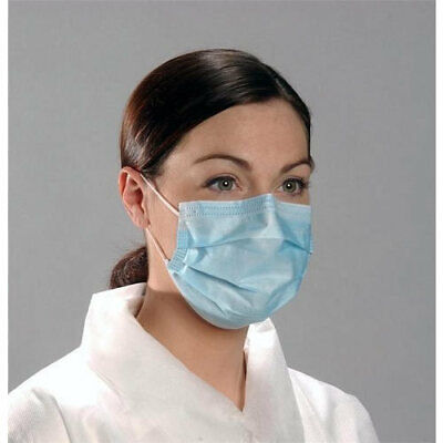 50X Anti Cor0Navirus Disposable Face Hospital Mask Medical Surgical Flu Blue