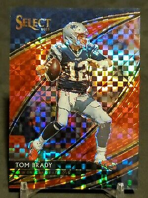 2019 SELECT Football TOM BRADY FIELD LEVEL SP #/49  NEW ENGLAND PATRIOTS  GOAT
