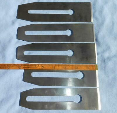 5 Lot Nice Vtg Stanley Plane Blades Cutters Asstd Sizes Antique Tools Sweetheart