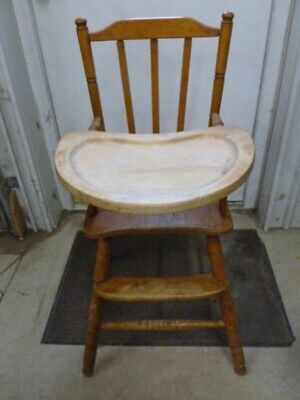 Vintage Antique High Chair Perfect For Restoring!