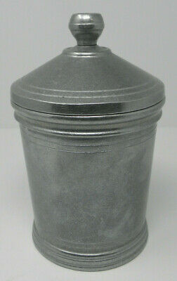 RWP Wilton Armetale Colonial Style CANISTER Pewter Columbia PA USA