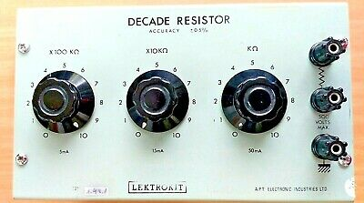 Used - Lektrokit LKU-221 Decade Resistor Accuracy ± 0.5% High Power Rotary Unit