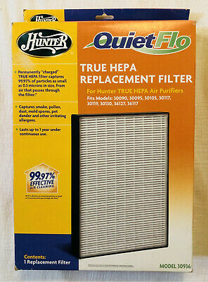 Hunter 30936 QuietFlo TRUE HEPA REPLACEMENT FILTER for Hunter Air Purifiers -New