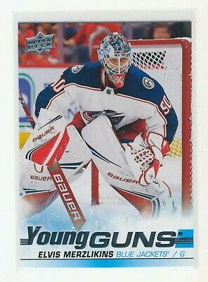 2019-20 Upper Deck Series 2 Elvis Merzlikins Young Guns Rookie Rc #466